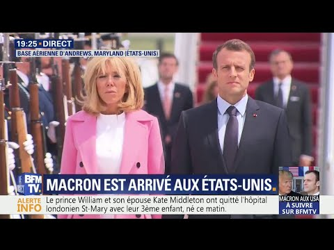 Emmanuel Macron à Washington: la Marseillaise est jouée par l'orchestre de l'US Air Force
