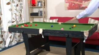 www.MadFun.co.uk - BCE / Riley - 6ft Folding Leg Snooker / Pool Table (FS-6)