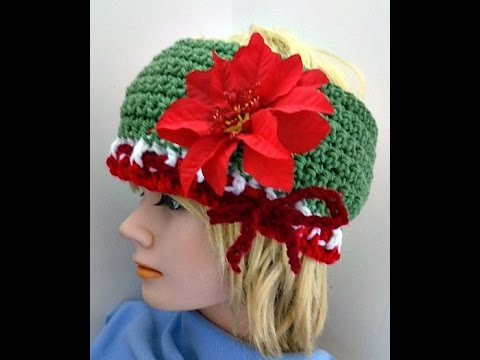 Free Crochet Christmas Headband Pattern Youtube