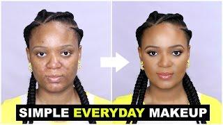 SIMPLE EVERYDAY MAKEUP TUTORIAL FOR BEGINNERS | OMABELLETV