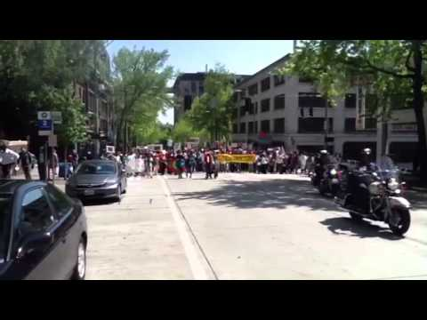 Oromo community of Seattle protesting Ethiopian government