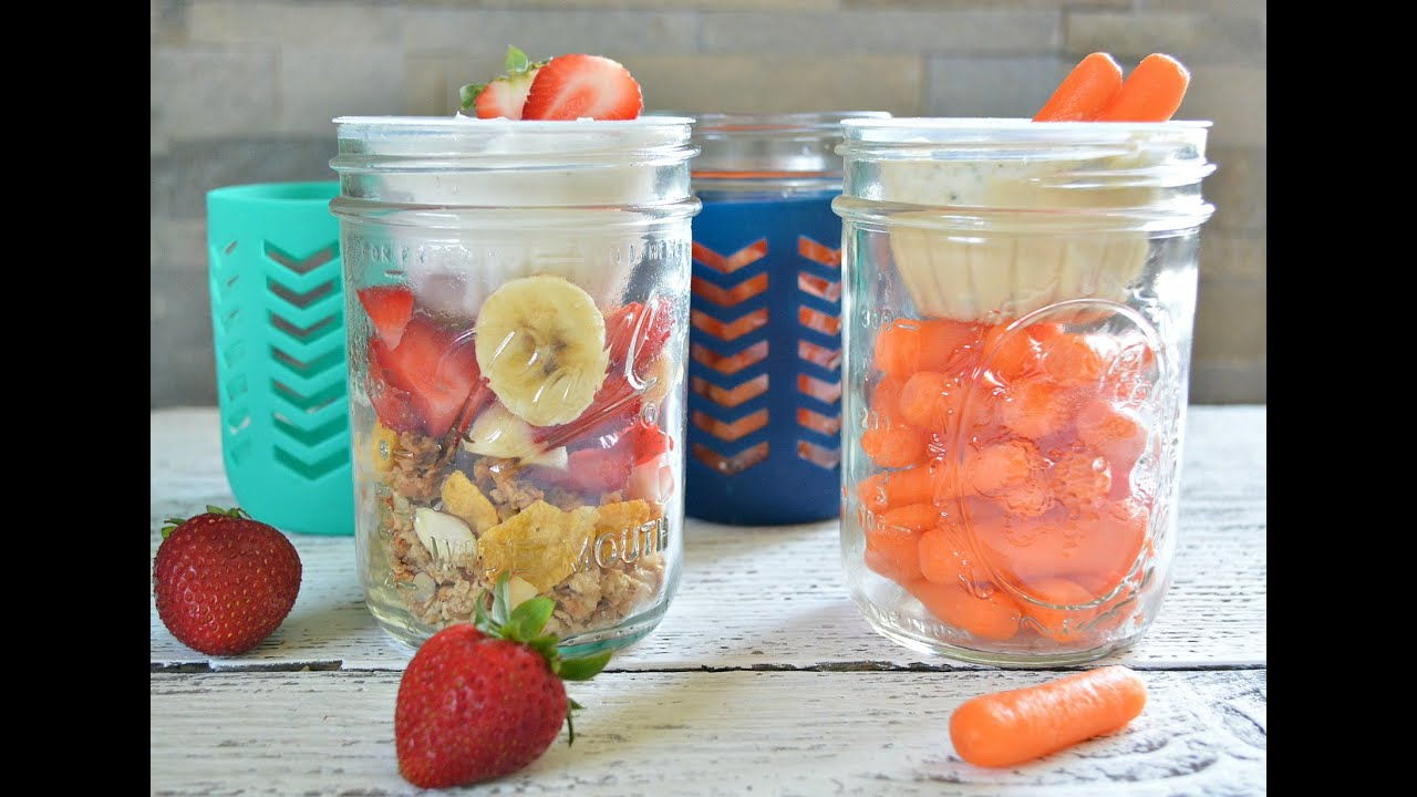 Stack N Snack Mason Jar Dole Fruit Cup Snack Ideas For Back To School And Beyond Youtube
