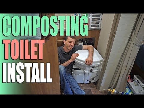Composting Toilet by Nature's Head Install - RV Upgrades