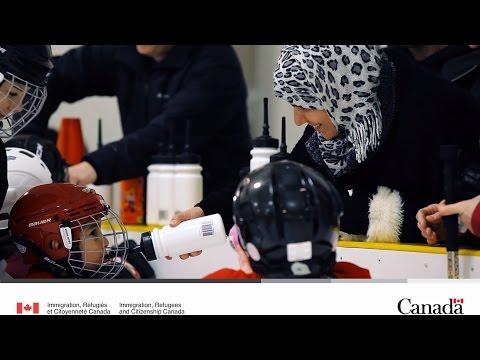 Des enfants Syriens découvrent le hockey