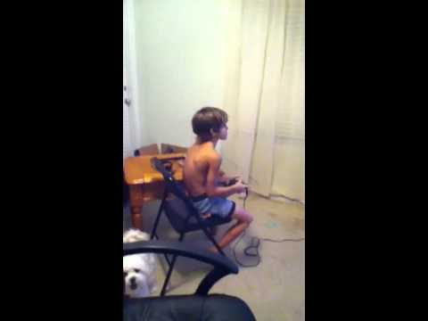 Kid playing games in his underwear - YouTube