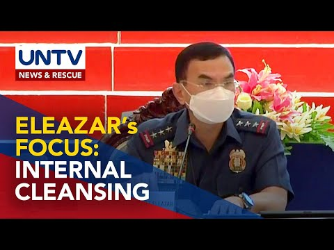PNP chief PGen. Guillermo Eleazar to focus on internal cleansing of police