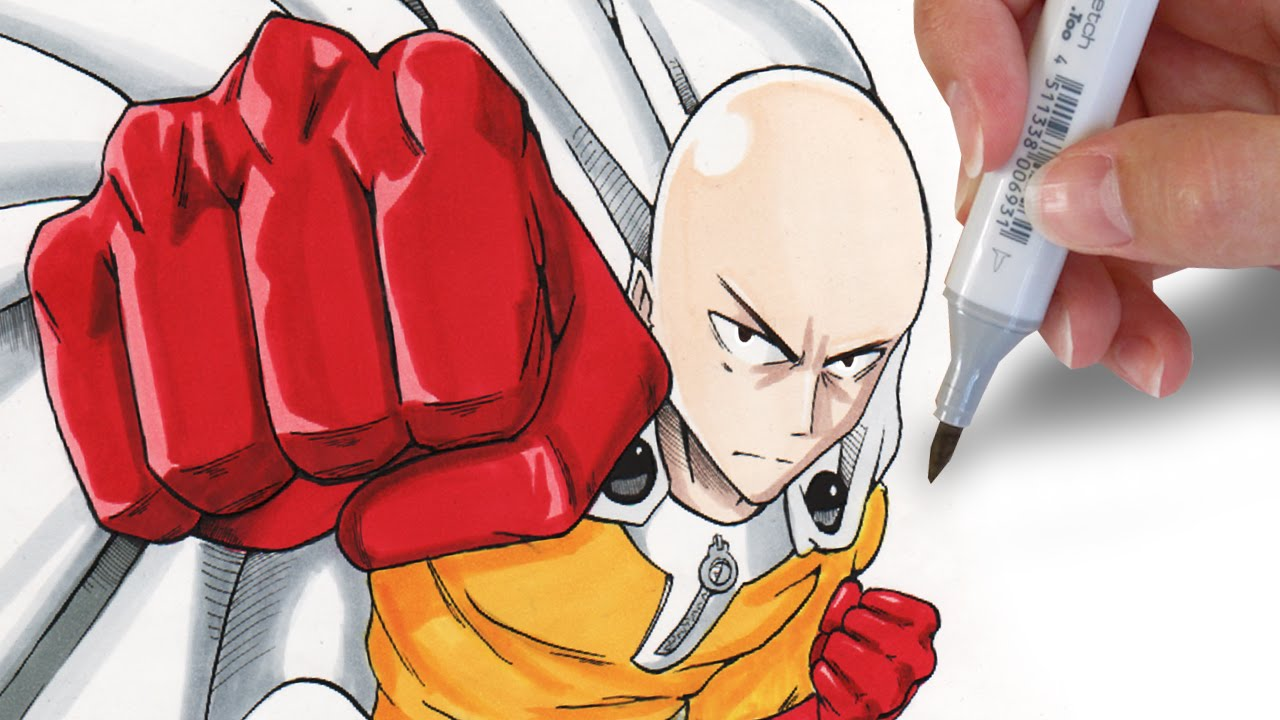 How To Draw Saitama One Punch Man Youtube
