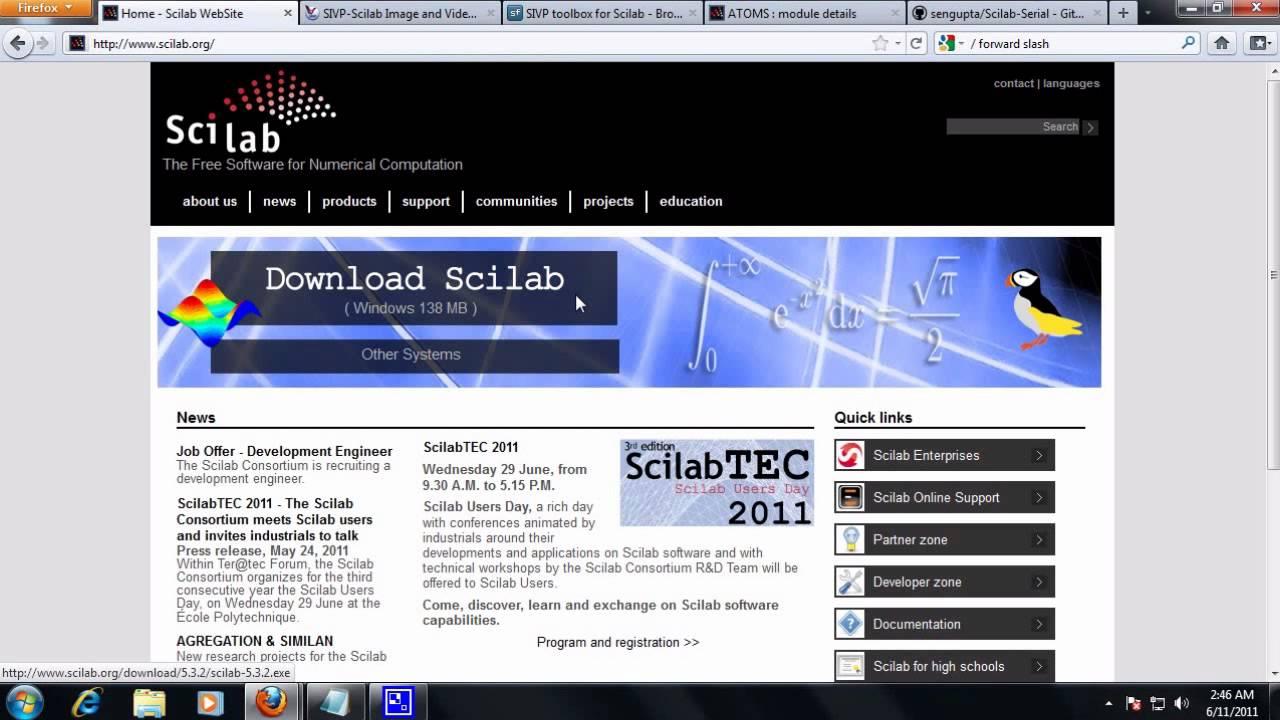 GRATUIT TÉLÉCHARGER SCILAB 4.1.2