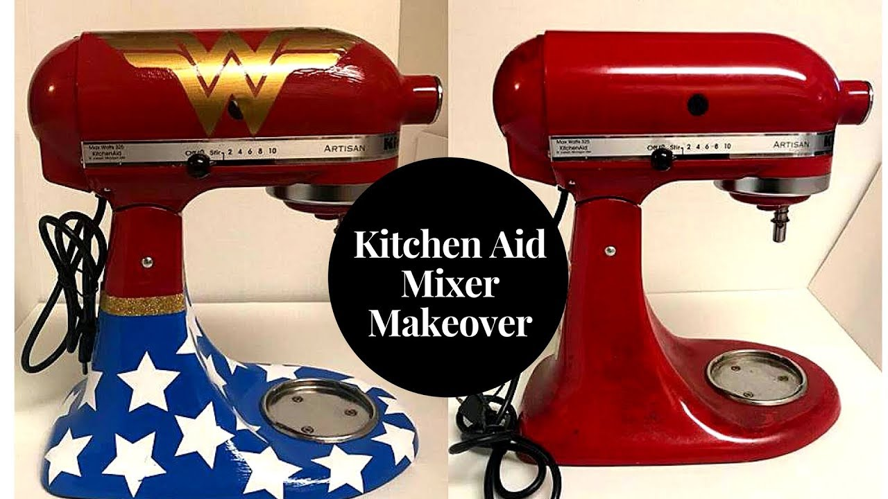 red kitchen aid mixer gold sink transformation from ruby to wonder woman youtube