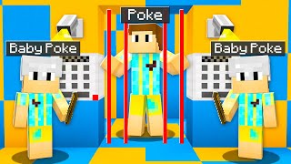 Baby Poke TRAPPED Me In His MAX SECURITY Minecraft Prison!