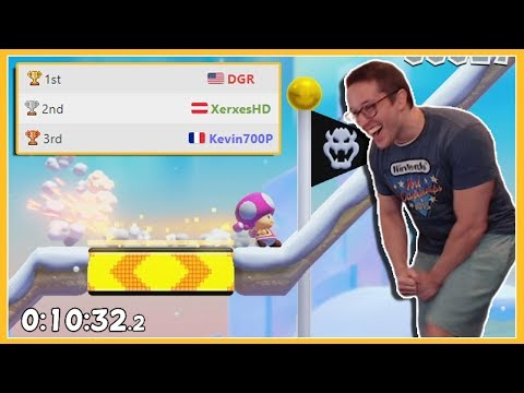 We Got The WORLD RECORD In The Hottest Mario Maker 2 Speedrun!!!
