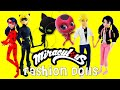 Miraculous Ladybug & Cat Noir FASHION DOLLS Marinette Adrien Ladybug Cat Noir Unboxing and Review