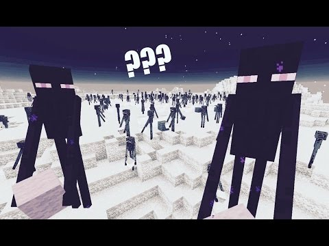What are Endermen trying to build? [360º Timelapse]