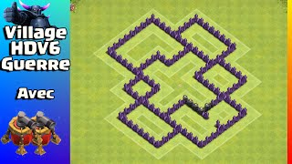 VILLAGE HDV6 GUERRE AVEC PROPULSEUR D'AIR - Clash Of Clans