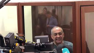 Александр Шестун выступил перед журналистами в Басманном суде 12 февраля 2019 года