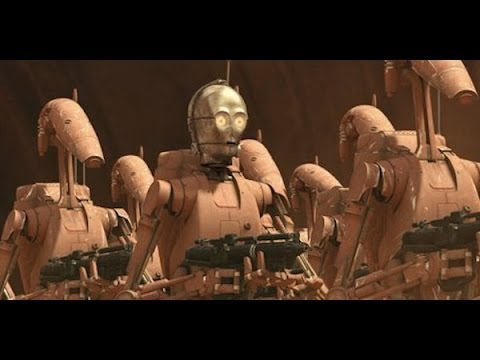 C-3PO Battle droid scenes