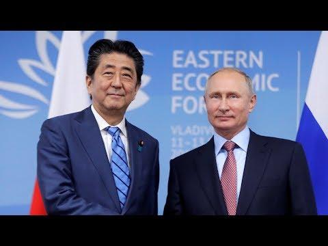 Abe says talks with Putin moving towards peace treaty