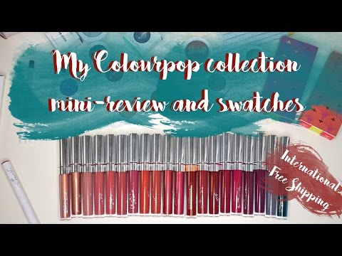 Colourpop collection, swatches and review - international shipping