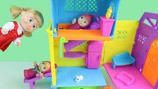 Masha Bebeğin Yeni Evi Kaydıraklı Yatak Joker Maşa Bebeği Kaçırıyor