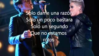 Pink Just Give Me a Reason Ft. Nate Ruess (Subtitulos Español)