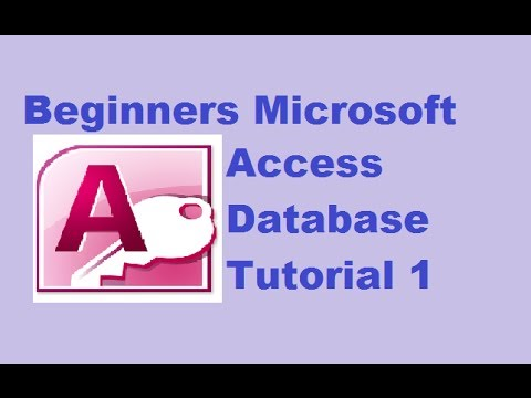 Beginners MS Access Database Tutorial 1 - Introduction and Creating Database