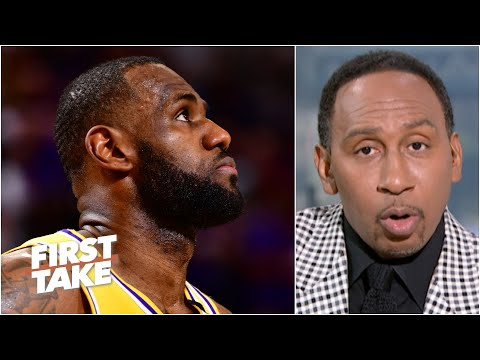 Stephen A. reacts to Lakers vs. Suns Game 2: 'I'm very worried' about the Lakers   First Take