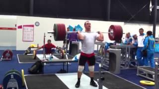 Ilya Ilin Power clean and jerk 200kg