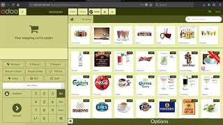 Odoo restaurant ribbon and video feature
