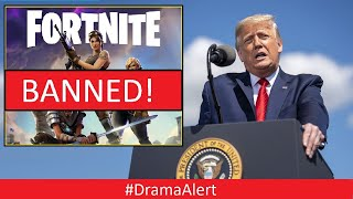 TRUMP might BAN FORTNITE #DramaAlert After TikTok Ban - KSI & The ROCK ( PS5 GIVEAWAY )