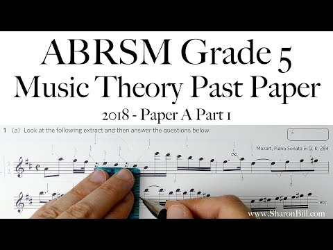 ABRSM Music Theory Grade 5 Past Paper 2018 A Part 1 With Sharon Bill