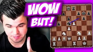 Magnus Carlsen is Impressed by the Perfect Move But His Opponent Should See The Point