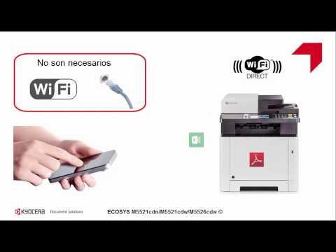 ECOSYS M5526cdw Configuración de WiFi Direct usando KYOCERA Mobile Print