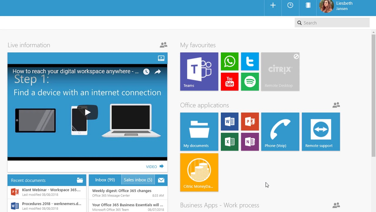 Citrix integration in your digital workspace - Workspace 365