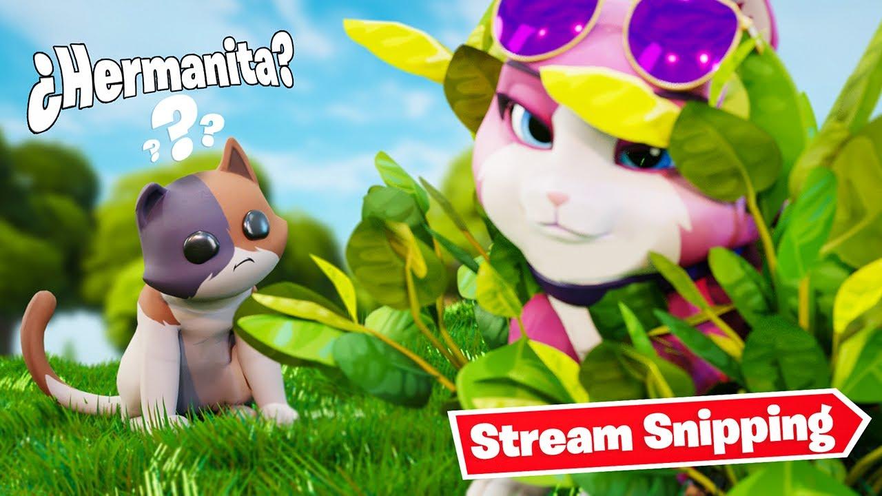 Hacen *Stream Snipping* a Gatito en Directo de Fortnite!! 🙀 *TERMINA MAL*