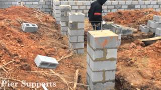 Hudgins Homes Brick Foundation Install