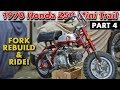 1970 Honda Z50A K1 Fork Rebuild and Test Ride!