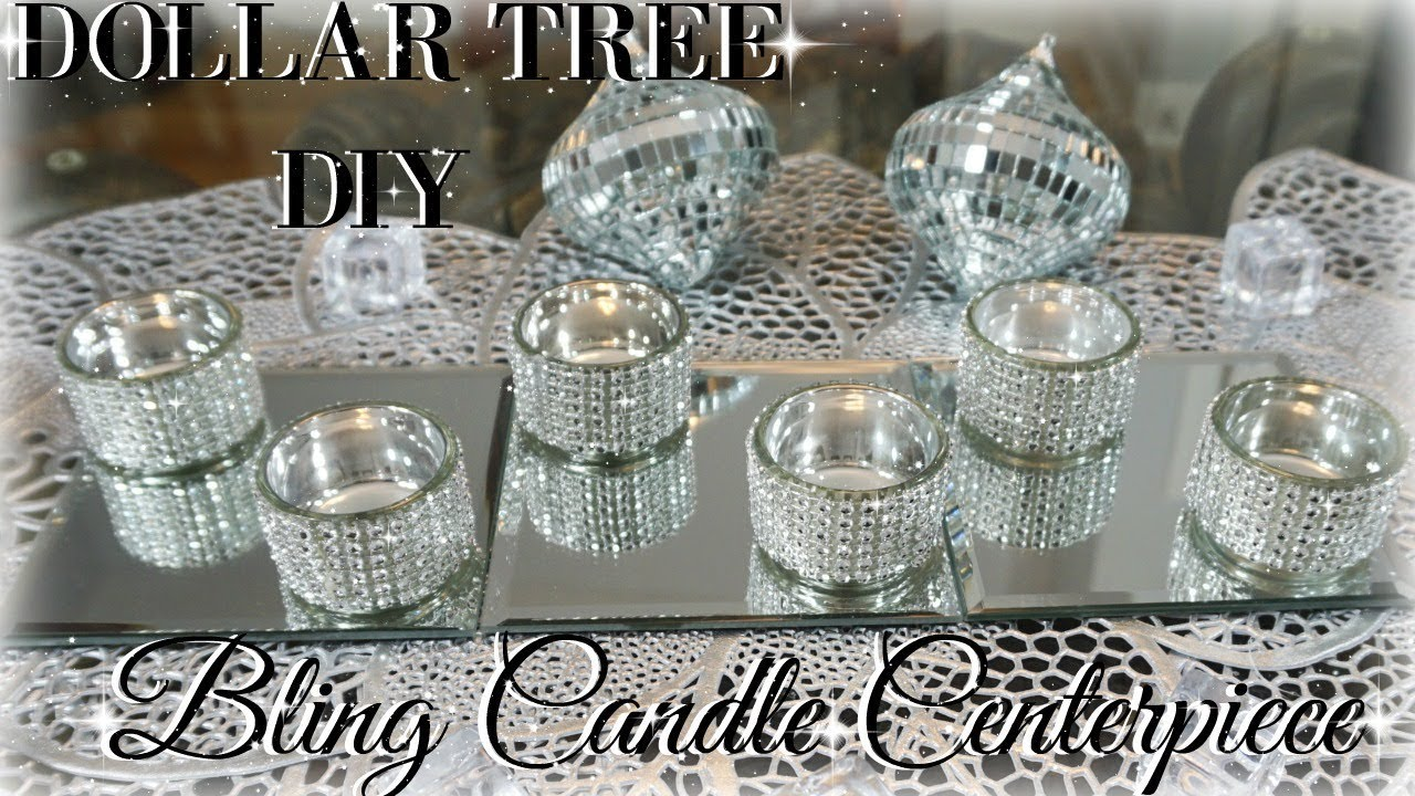 diy dollar tree centerpiece diy dollar store bling candles diy home decor craft ideas youtube. Black Bedroom Furniture Sets. Home Design Ideas