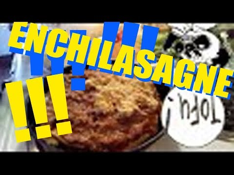 Enchilasagne!  Hot, yummy vegan fusion oil-free masterpiece! Leftovers and sale produce!!! | RPTK #4