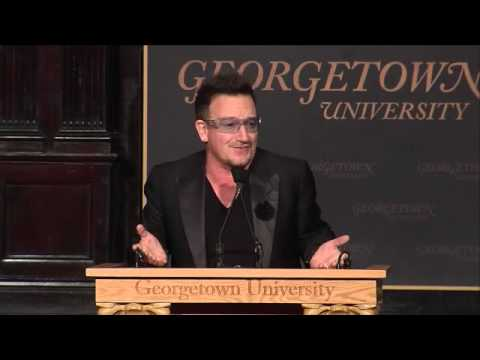 U2News - Bono at Georgetown University - Part 1