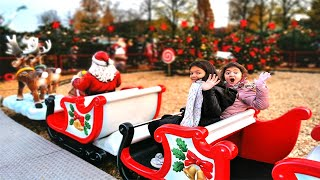 Masal and Öykü in the Christmas fun playground