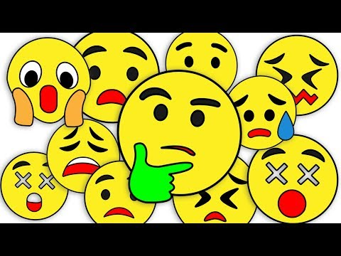Drawing Emoji All Emotions Paint And Colouring For Kids Kids Drawing TV