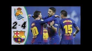 REAL SOCIEDAD vs FC BARCELONE :Liga Santander 2018 buts et Résumé du match