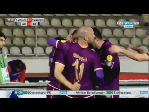 Elazığspor 0-1 Ankaraspor | Mehmet Yildiz goal Elazigspor Vs Osmanlispor | Turkey D2 30/01/2015