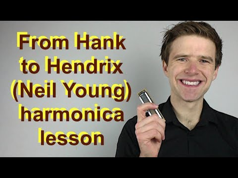 From Hank to Hendrix - Neil Young harmonica solo lesson - easy beginner harmonica lesson on G harp