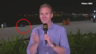 بالفيديو| خلال تغطية الألعاب الأولمبية .. شاب وفتاة في وضع حميمي على الهواء! | وطن