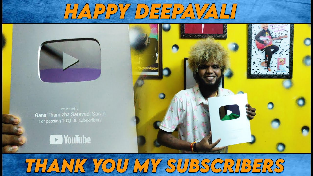 Happy Diwali My Friends & Fans | Thank You My Subscribers | Silver Button | Saravedi Saran