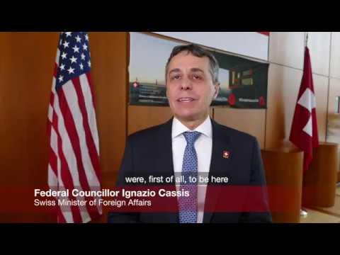 Swiss Federal Councillor Ignazio Cassis comes to Washington, D.C.