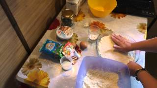 Пирог с творогом и маскарпоне.