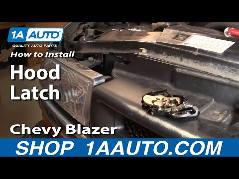 How To Install Replace Broken Hood Latch Chevy S10 Blazer GMC S15 Jimmy Pickup 94-05 1AAuto.com