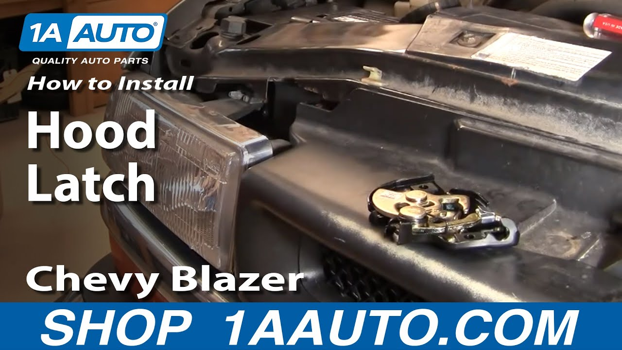 1995 Ford F53 Wiring Diagram How To Replace Hood Latch 94 05 Chevy Blazer S10 Youtube